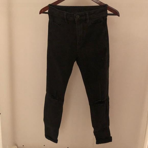Black slash jeans